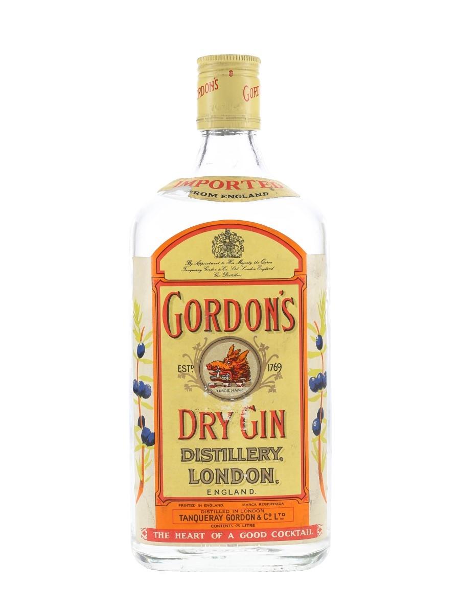 Gordon's Dry Gin Bottled 1970s 75cl