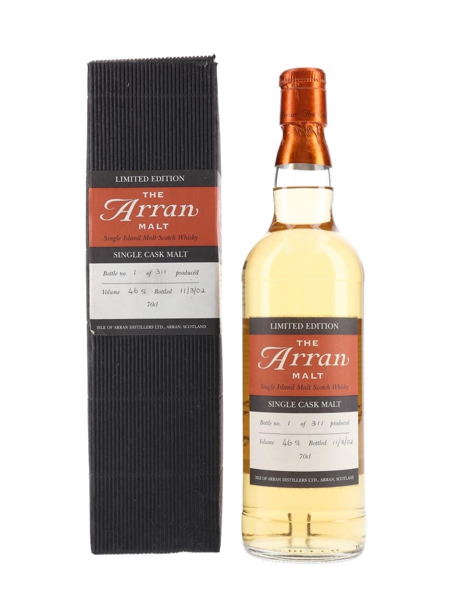 Arran 1995 Single Cask Bottled 2002 - Bottle Number 1 70cl / 46%