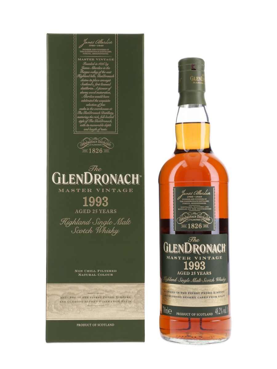 Glendronach 1993 Master Vintage 25 Year Old 70cl / 48.2%