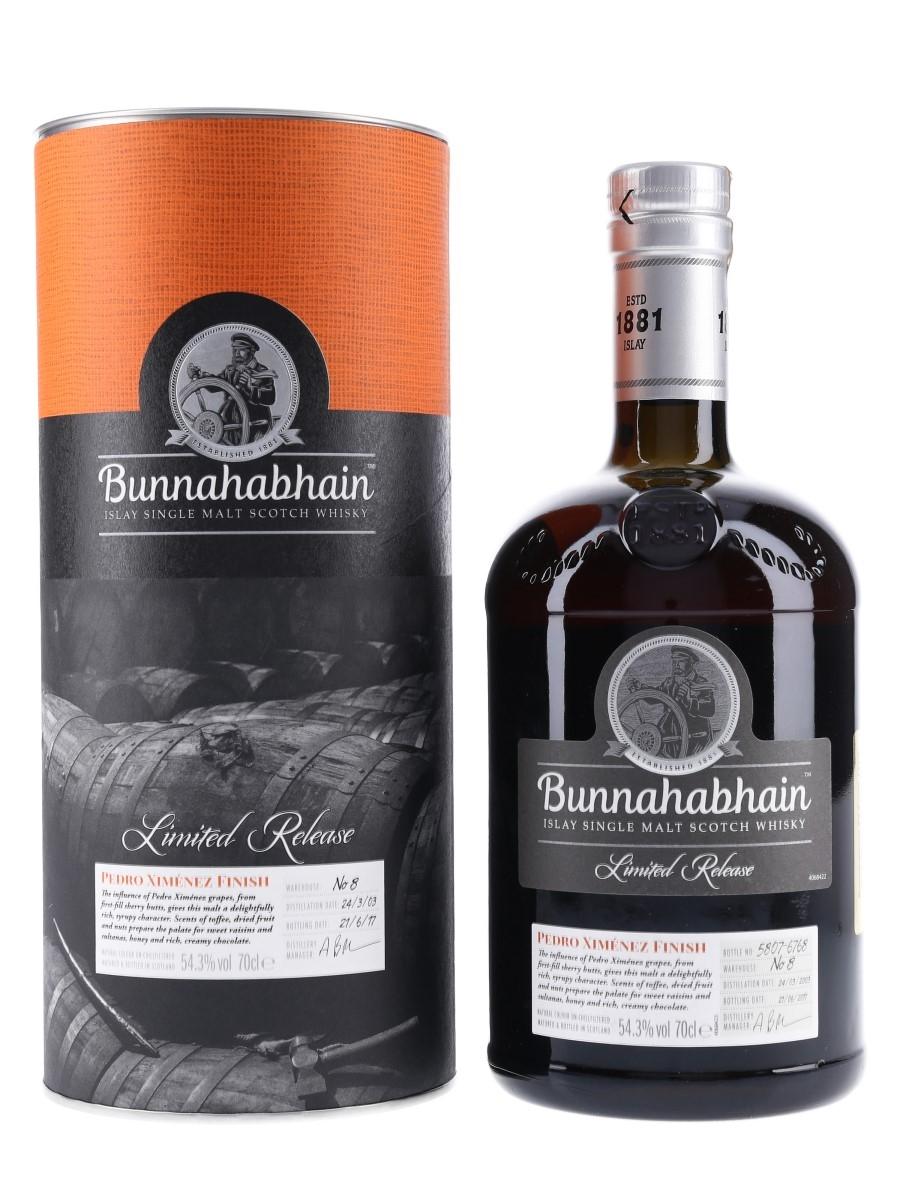 Bunnahabhain 2003 Limited Release Pedro Ximenez Finish 70cl / 54.3%