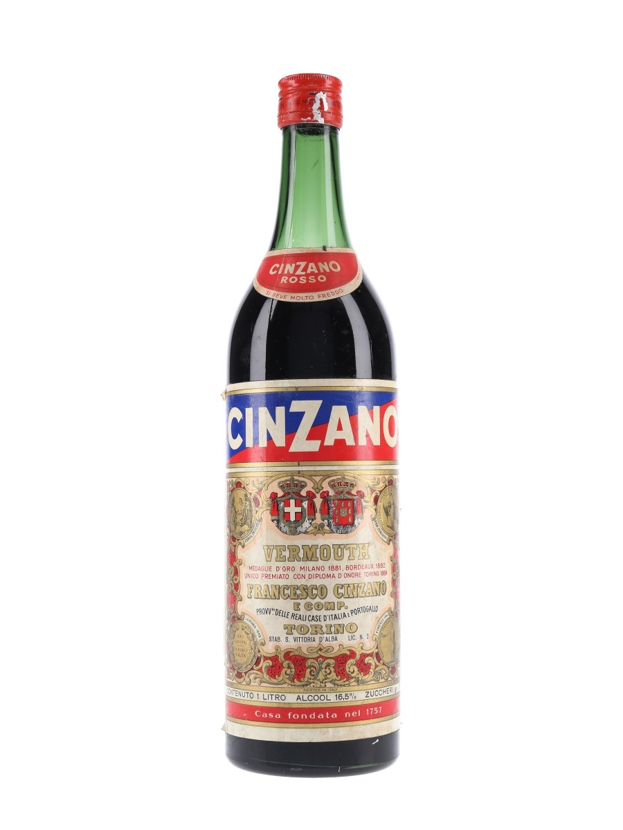 Cinzano Vermouth Rosso Bottled 1960s-1970s 100cl / 16.5%