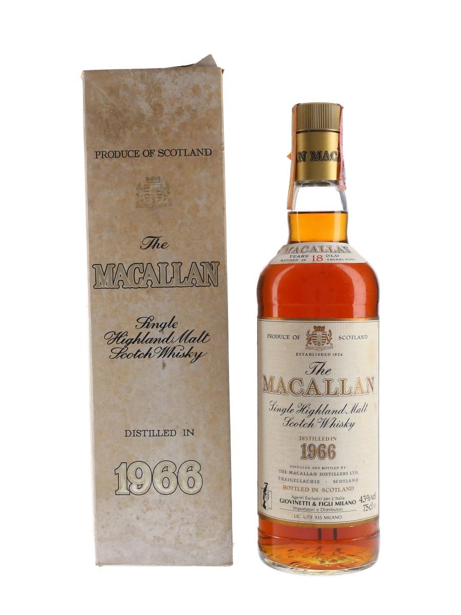 Macallan 1966 18 Year Old Giovinetti 75cl / 43%