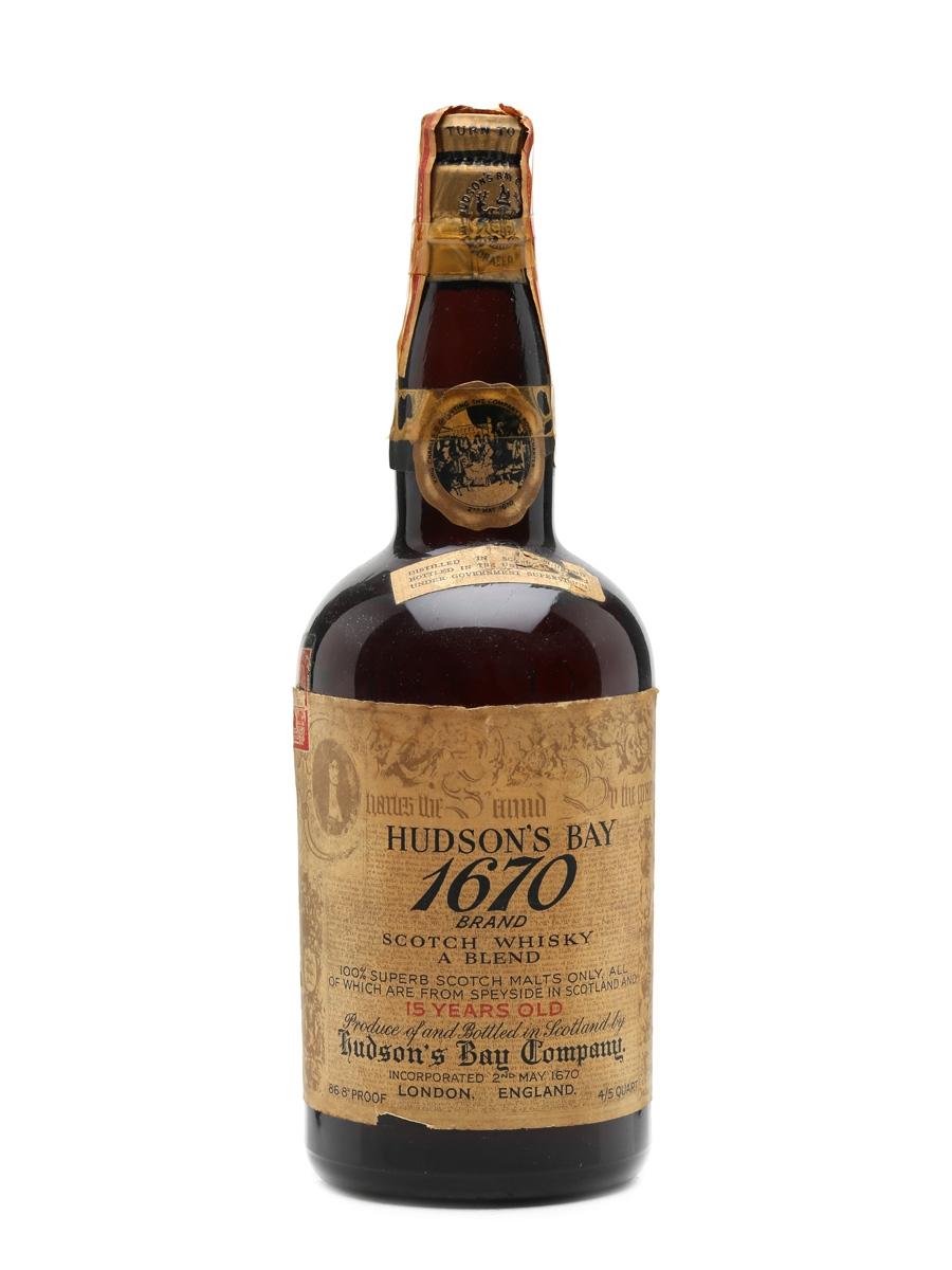 Hudson Bay 1670 15 Year Old Malt Bottled 1940s 75cl