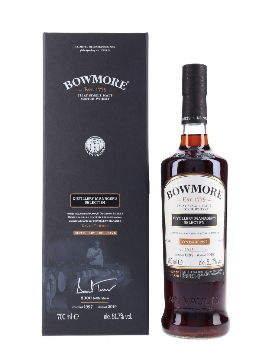 Bowmore 1997 Distillery Manager's Selection Bottled 2019 70cl / 51.7%