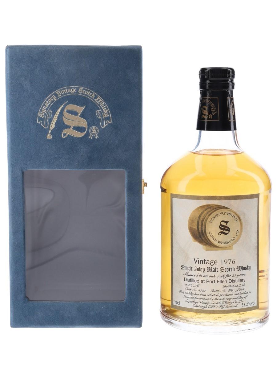 Port Ellen 1976 21 Year Old Bottled 1998 - Signatory Vintage 70cl / 55.2%
