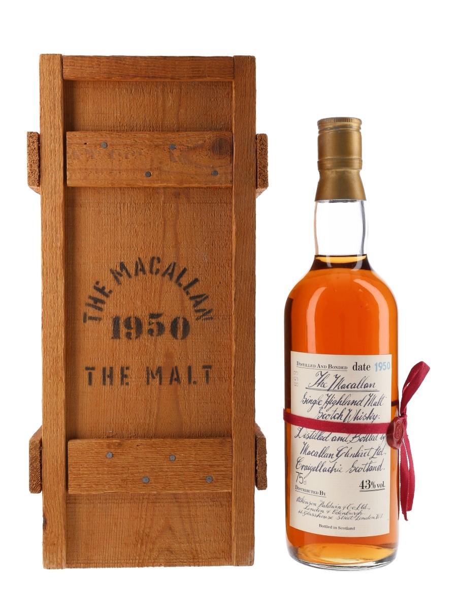 Macallan 1950 Handwritten Label Bottled 1980s 75cl / 43%