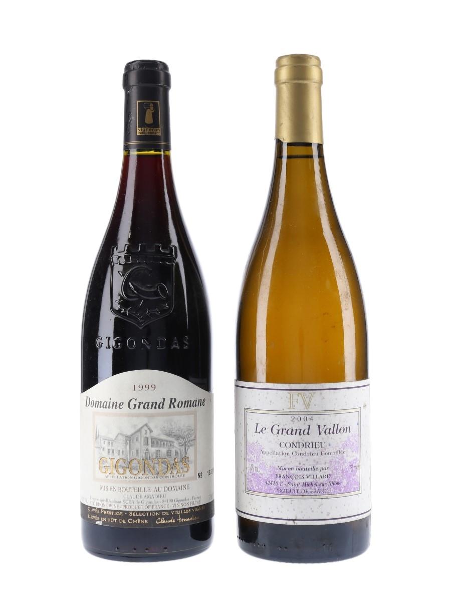 Condrieu 2004 & Gigondas 1999 Francois Villard & Claude Amadieu 2 x 75cl / 14%