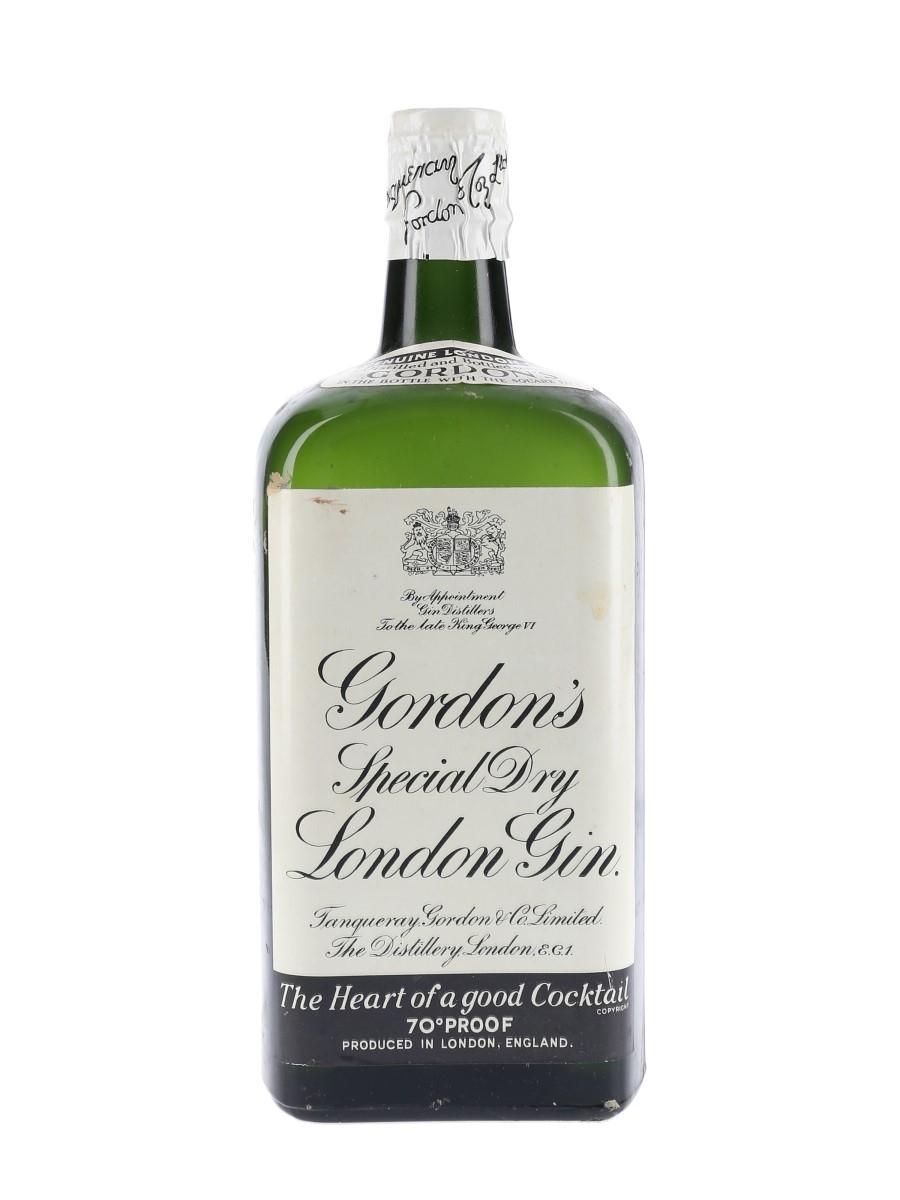 Gordon's Special Dry London Gin Bottled 1950s - Spring Cap 75cl / 40%