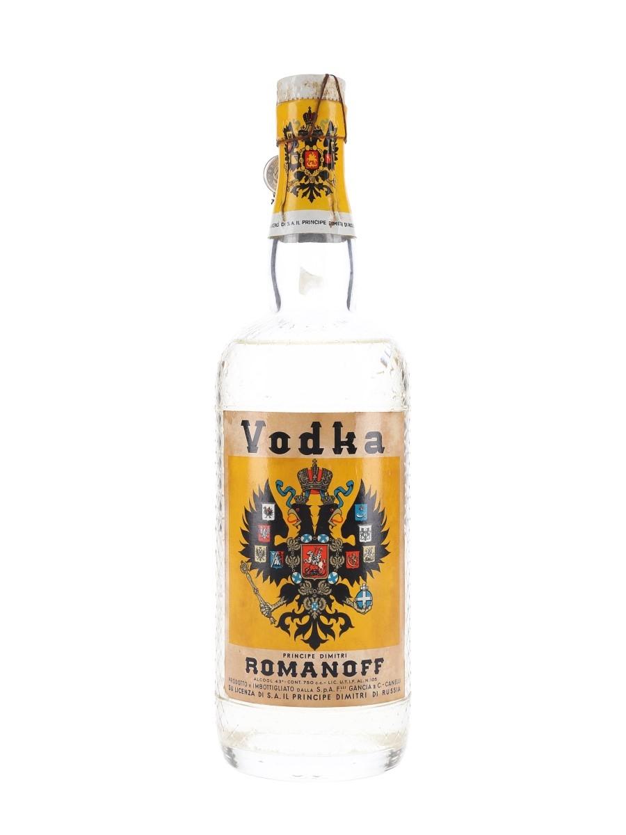 Romanoff Vodka Bottled 1950s 75cl / 43%