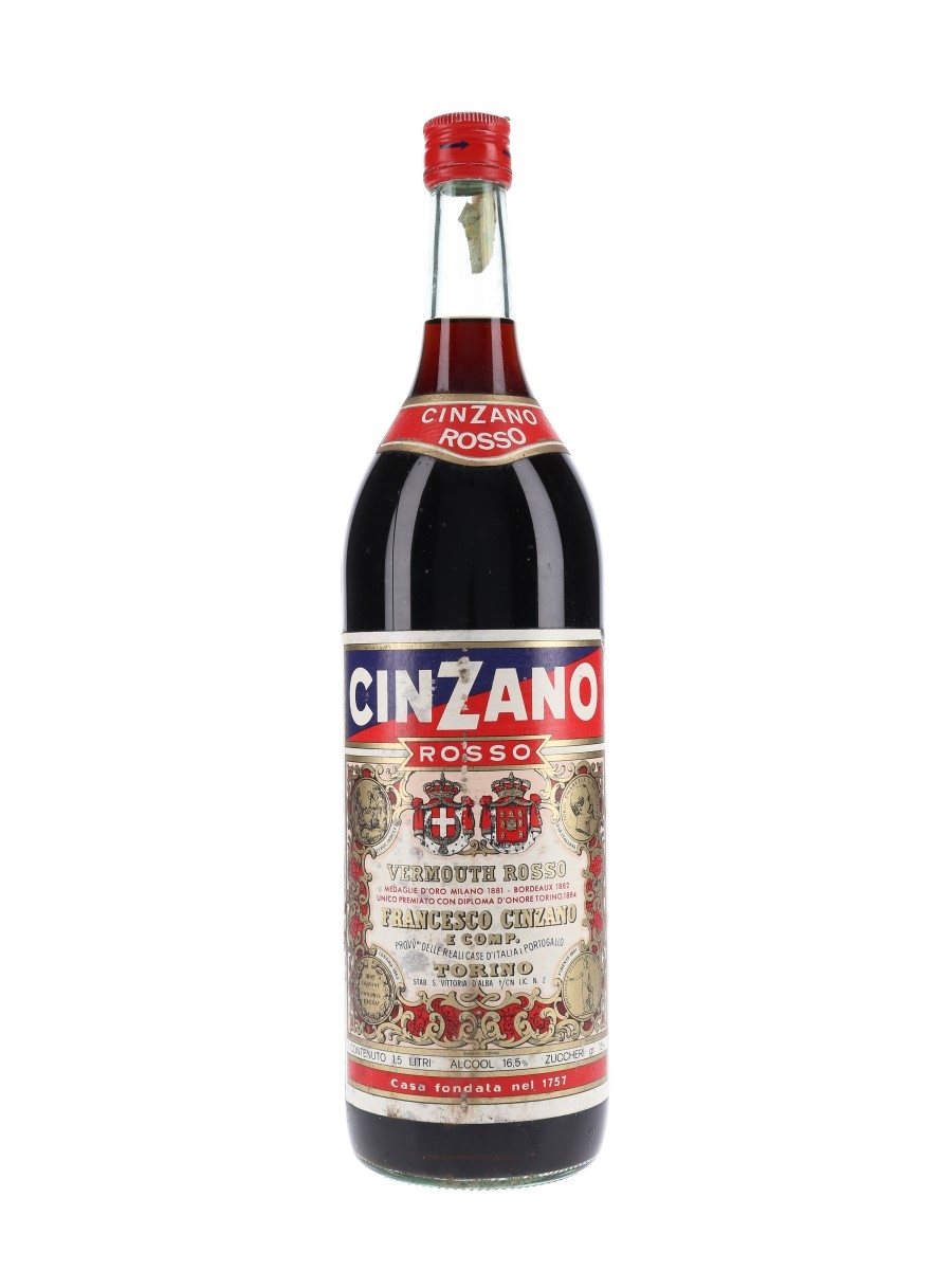 Cinzano Vermouth Rosso Bottled 1960s-1970s - Large Format 150cl / 16.5%