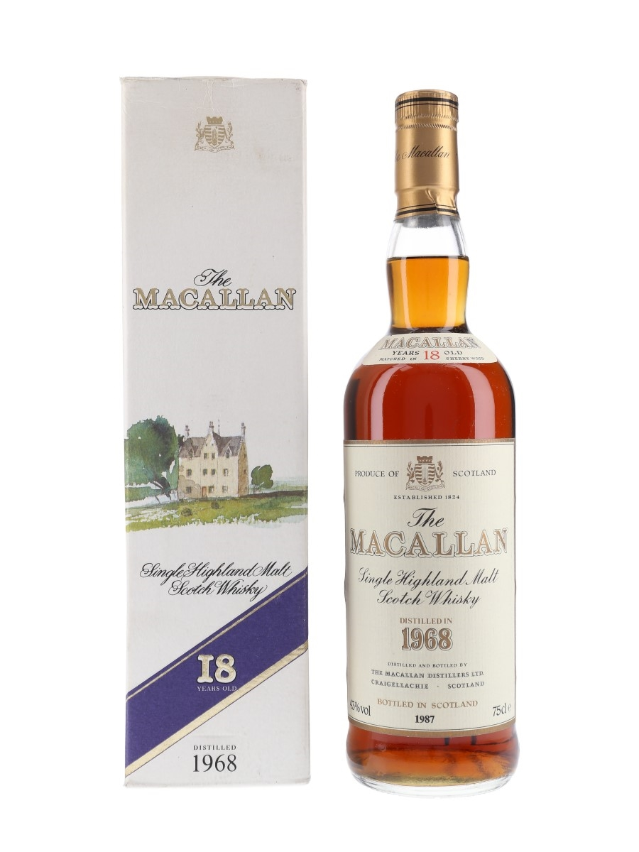 Macallan 1968 18 Year Old Bottled 1987 75cl / 43%