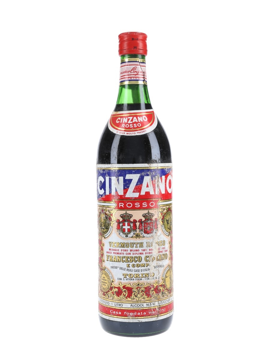 Cinzano Vermouth Rosso Bottled 1970s 100cl / 16.5%