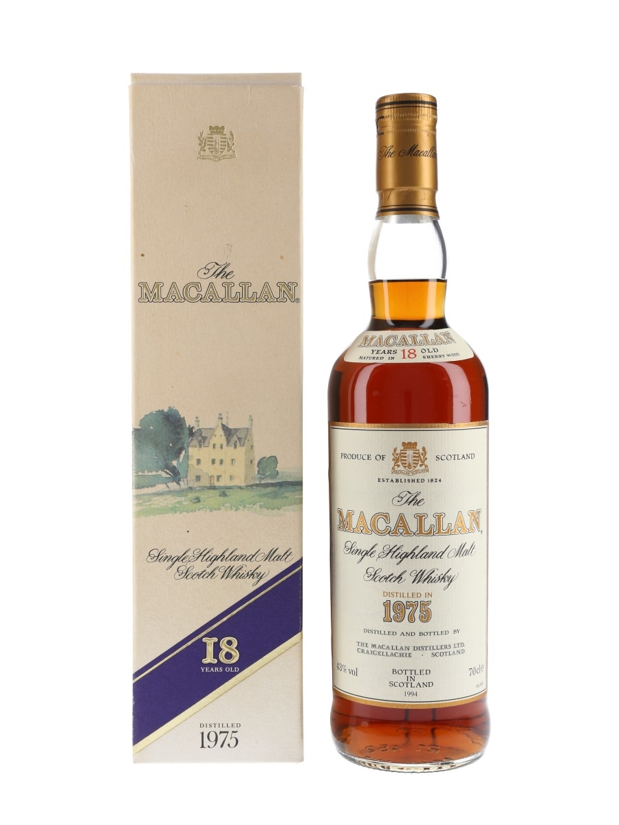 Macallan 1975 18 Year Old Bottled 1994 70cl / 43%