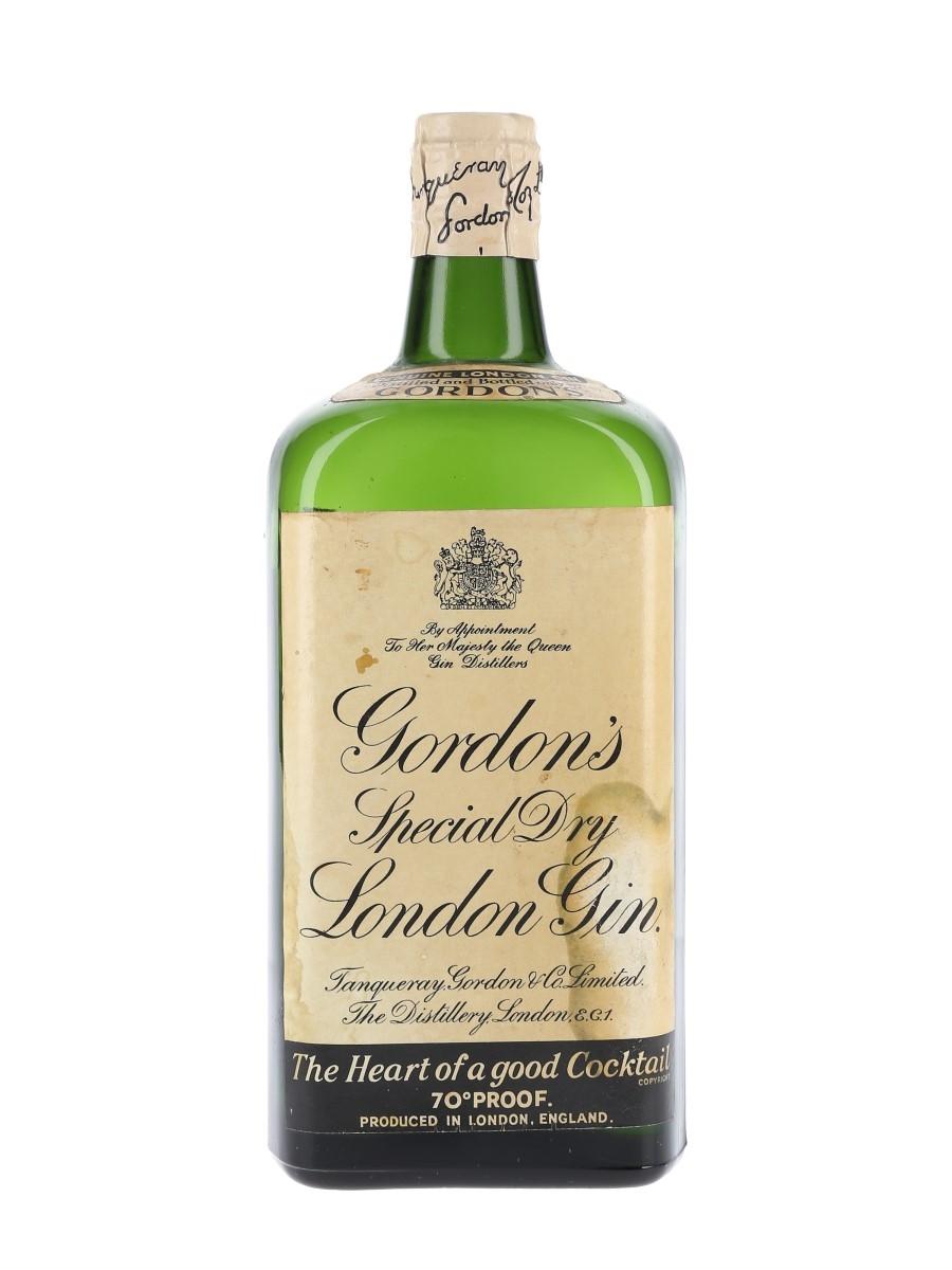 Gordon's Special Dry London Gin Bottled 1950s-1960s - Spring Cap 75cl / 40%