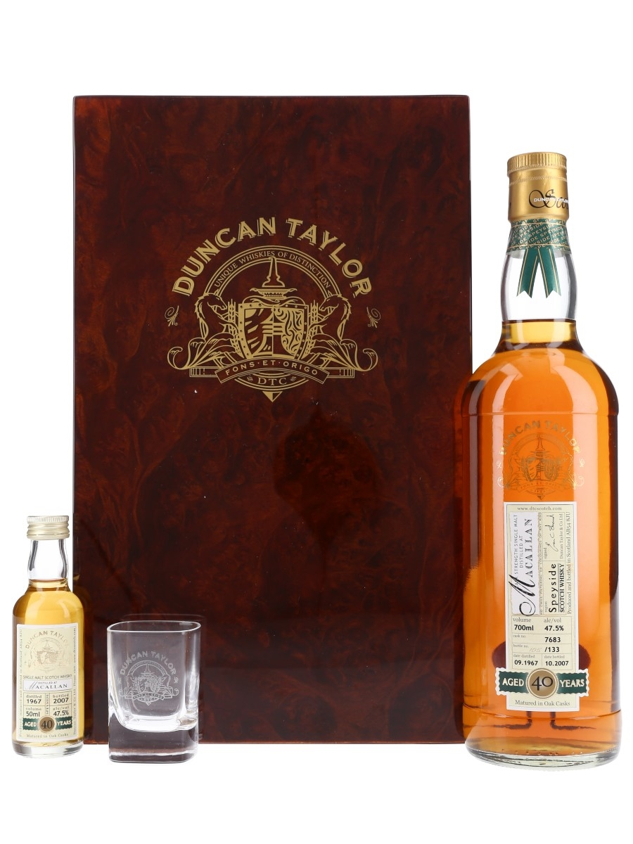 Macallan 1967 Cask #7863 40 Year Old - Duncan Taylor 70cl & 5cl / 47.5%