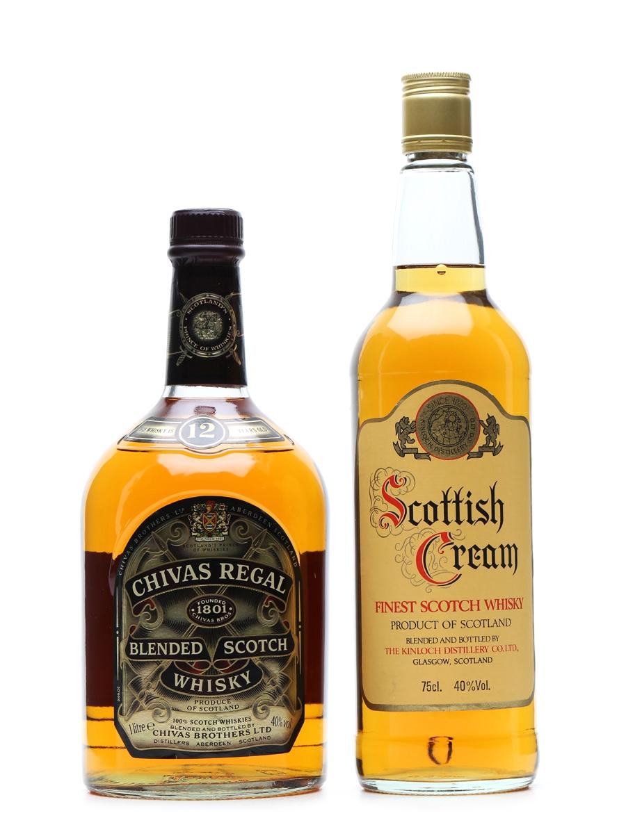 Chivas Regal 12 Year Old & Scottish Cream 1 Litre & 75cl