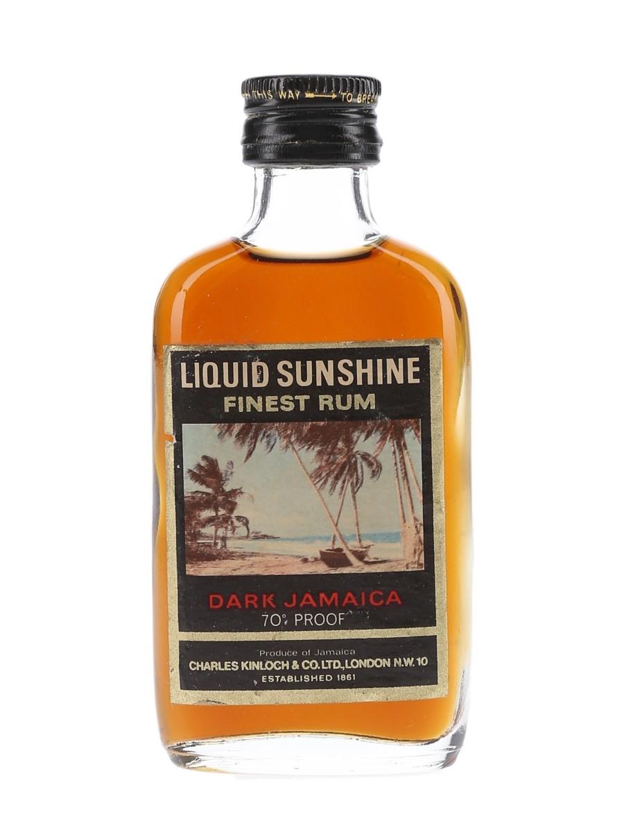 Liquid Sunshine Dark Jamaica 70 Proof Bottled 1970s 5cl / 40%