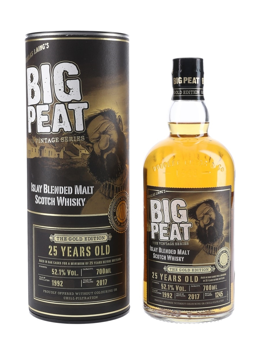 Big Peat 1992 25 Year Old The Gold Edition Bottled 2017 - Signed Bottle 70cl / 52.1%