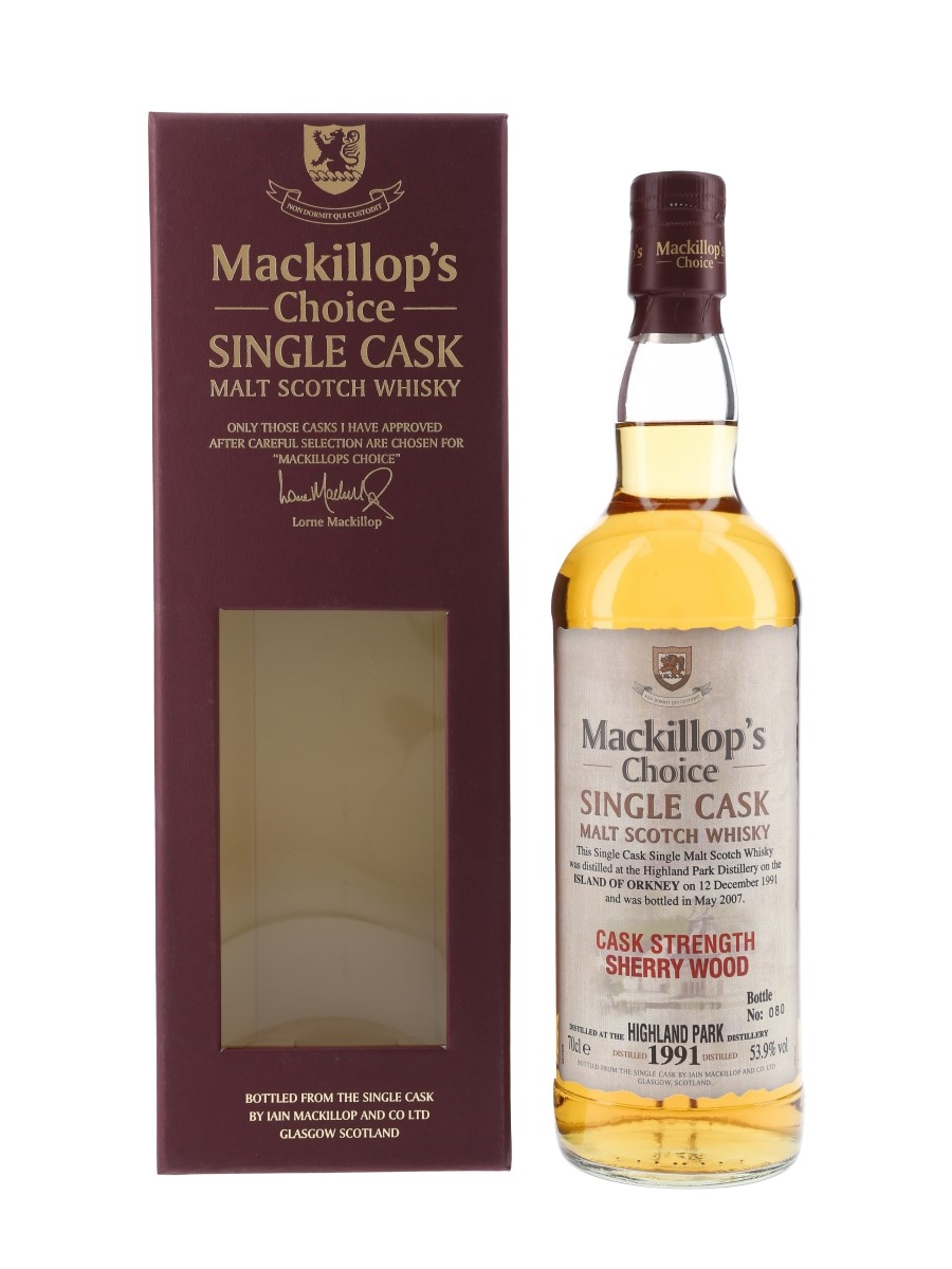 Highland Park 1991 Mackillop's Choice Bottled 2007 70cl / 53.9%