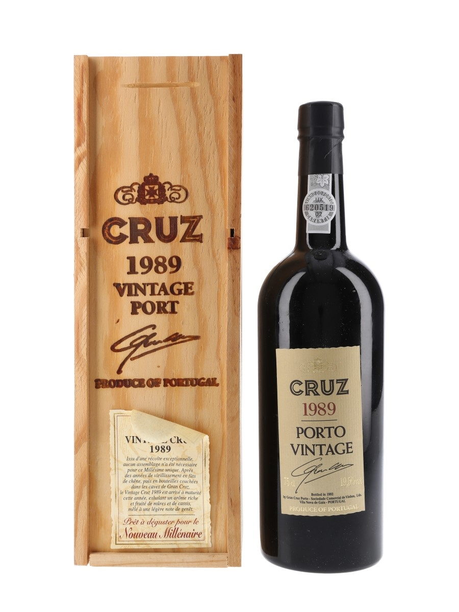Cruz 1989 Vintage Port Bottled 1992 75cl / 19.5%