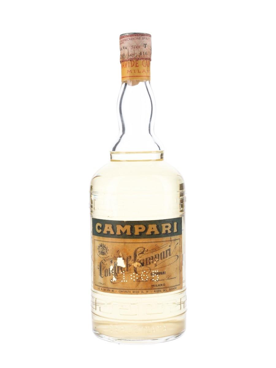 Campari Cordial Bottled 1950s 75cl / 36%