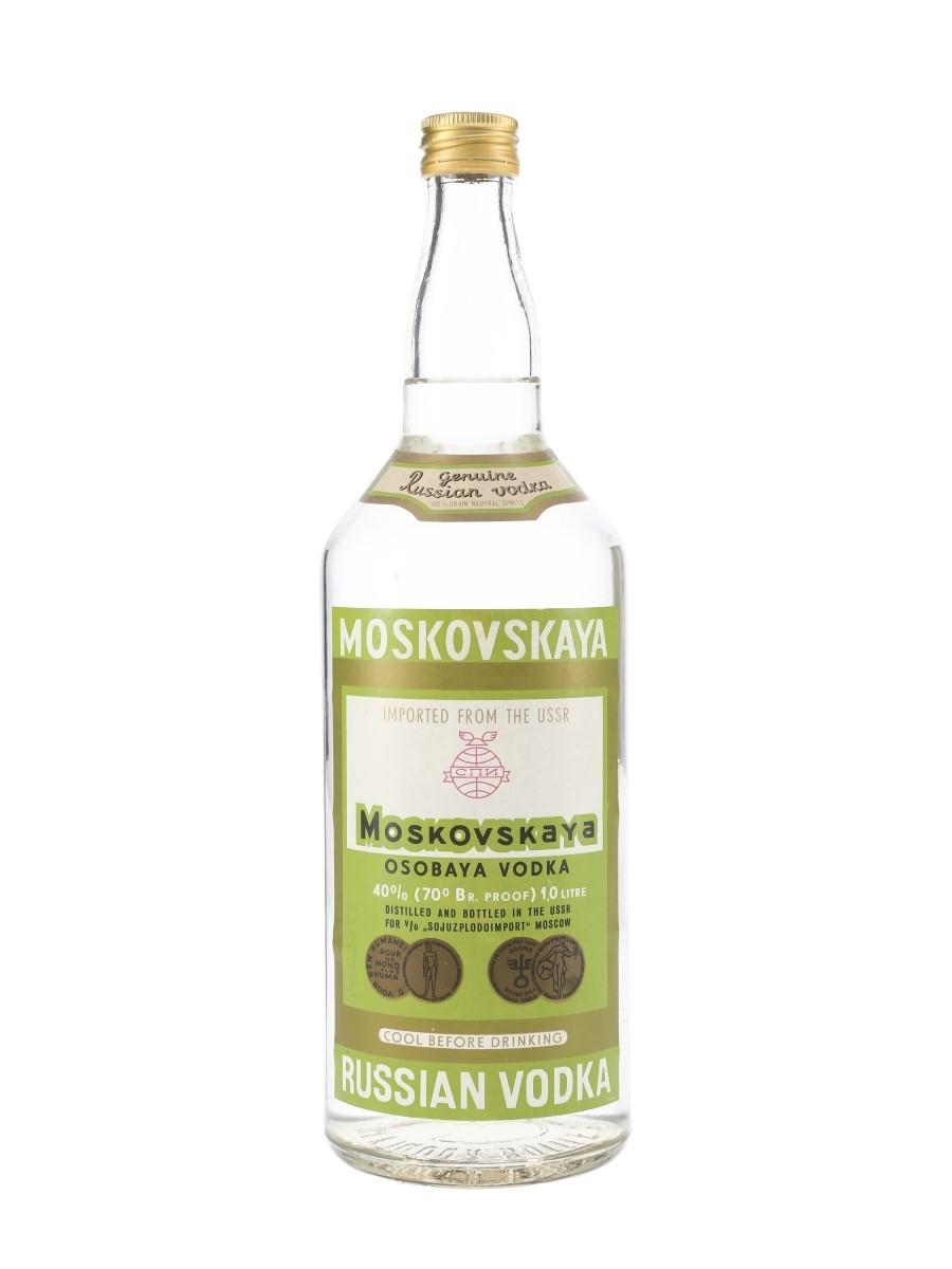 Moskovskaya Russian Vodka Bottled 1970s 100cl / 40%