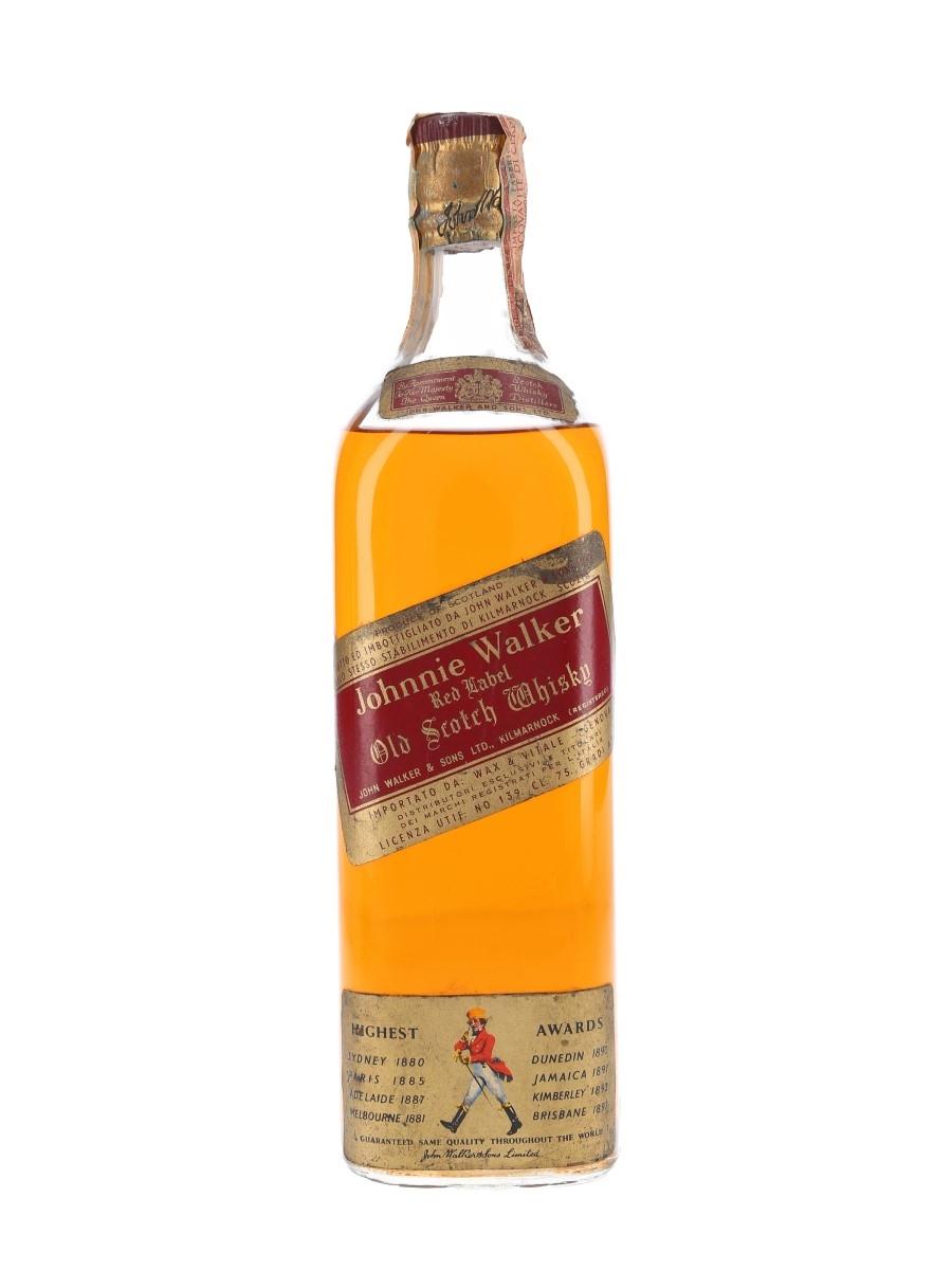 Johnnie Walker Red Label Bottled 1960s - Wax & Vitale 75cl / 43%