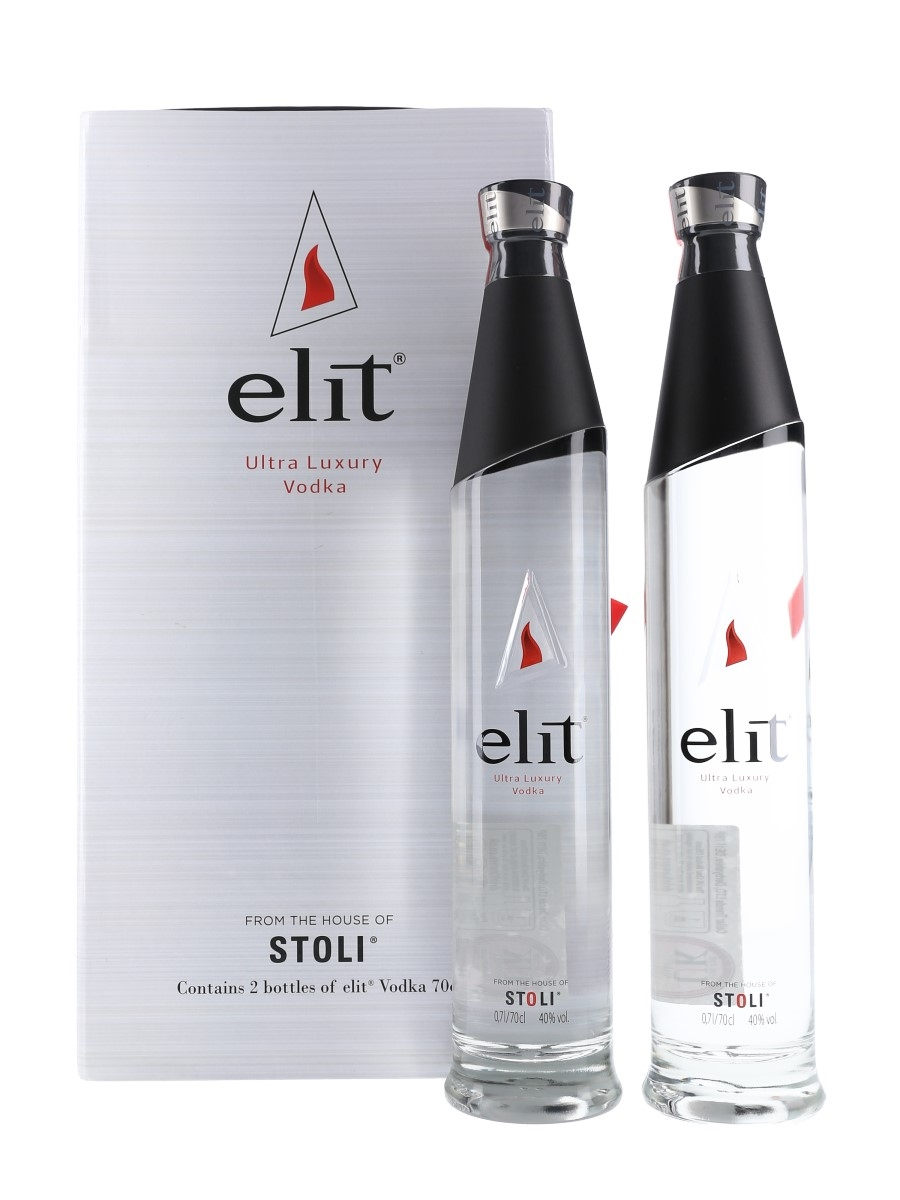 Stoli Elit Set Ultra Luxury Vodka 2 x 70cl / 40%