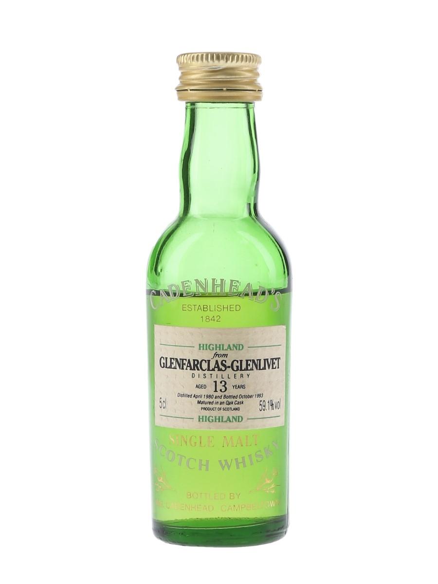 Glenfarclas Glenlivet 1980 13 Year Old - Cadenhead's 5cl / 59.1%