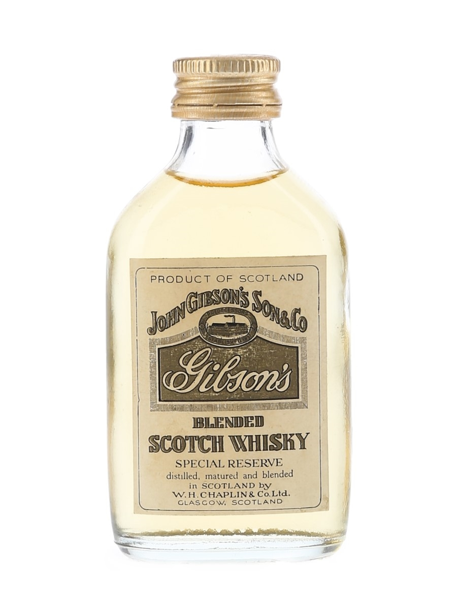 Gibson's Special Reserve Bottled 1970s 5cl