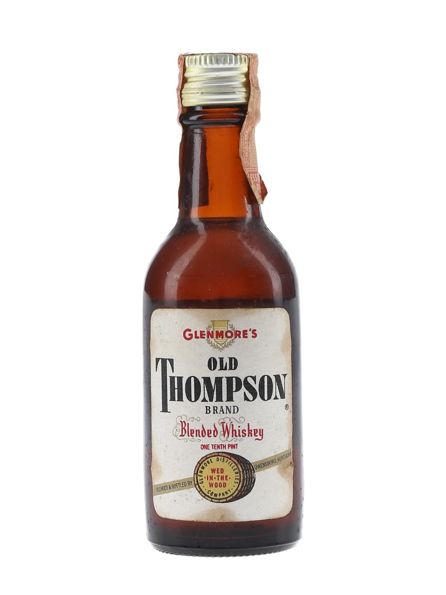 Glenmore's Old Thompson Brand 4 Year Old Bottled 1950s-1960s 4.7cl / 43%