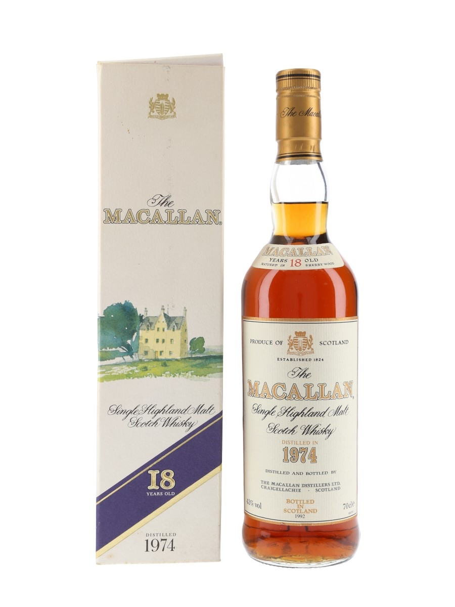 Macallan 1974 18 Year Old Bottled 1992 70cl / 43%
