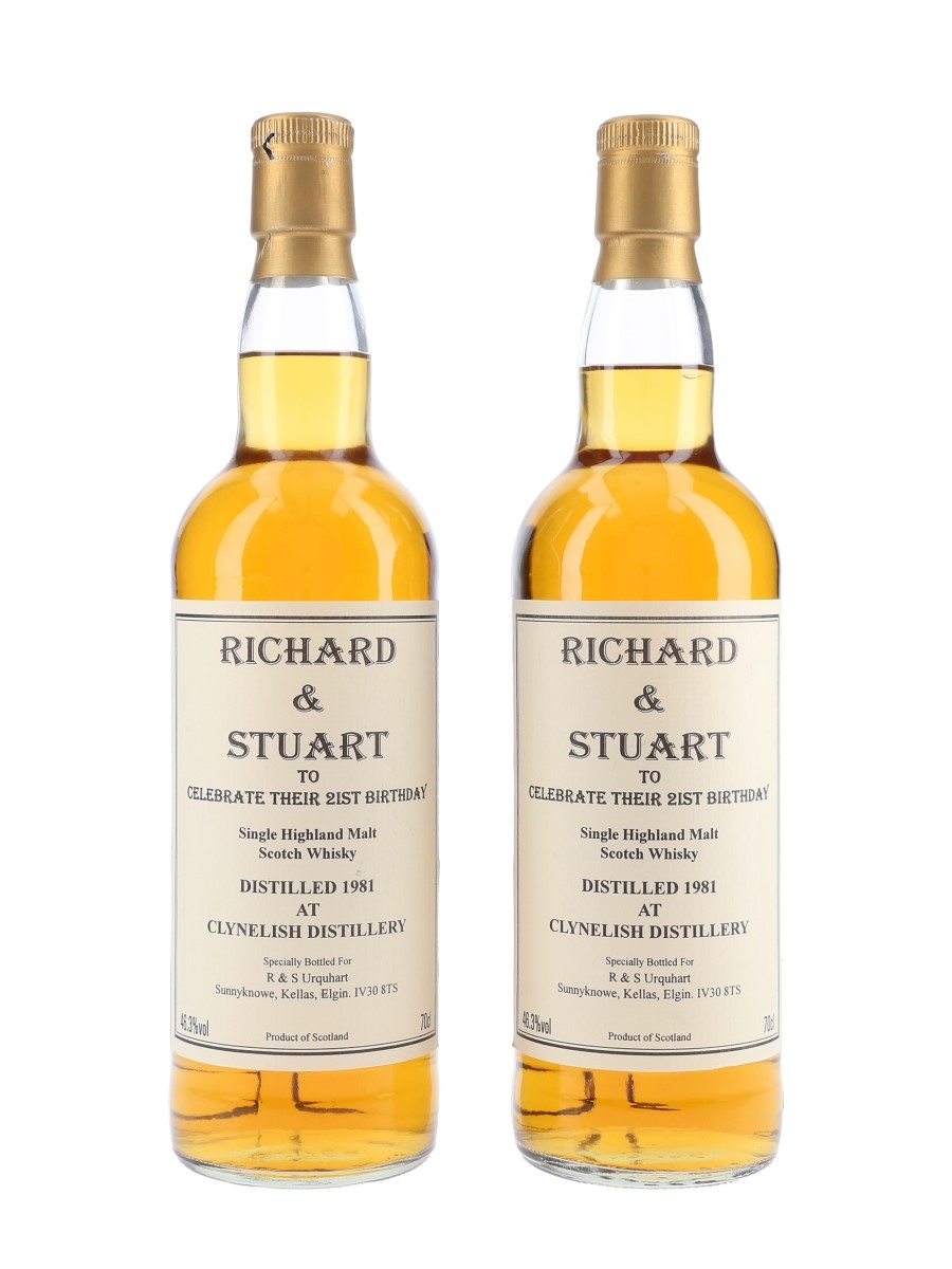 Clynelish 1981 Richard & Stuart Urquhart - Signed Bottles 2 x 70cl / 46.3%
