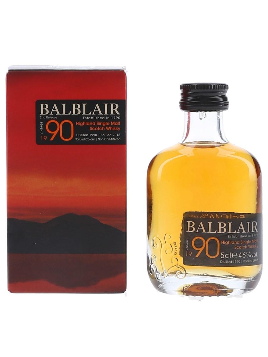 Balblair 1990 Bottled 2015 5cl / 46%