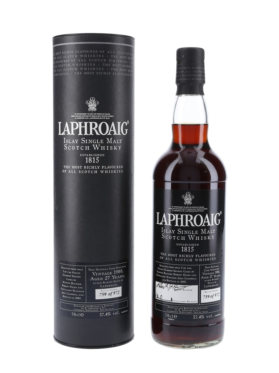 Laphroaig 1980 Sherry Cask 27 Year Old 70cl / 57.4%