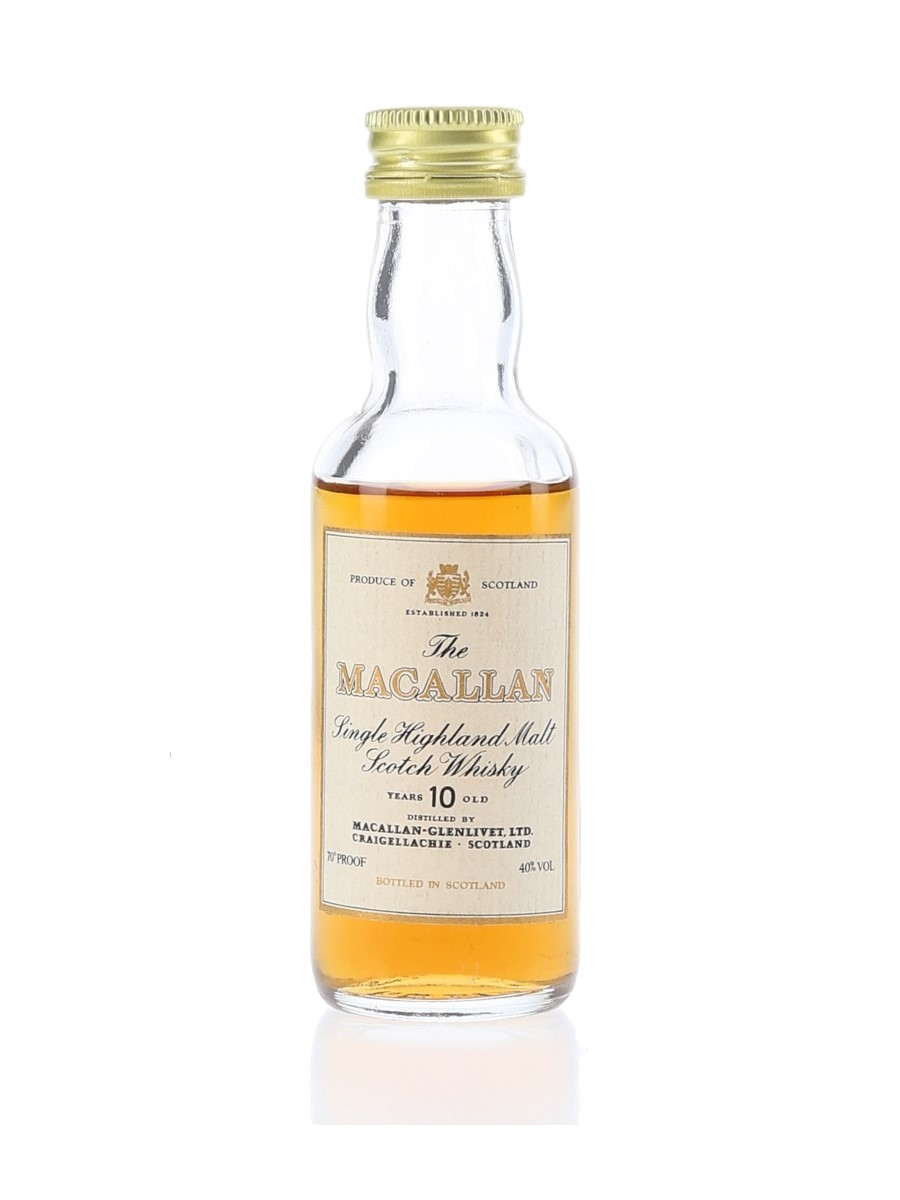 Macallan 10 Year Old Bottled 1980s 5cl / 40%