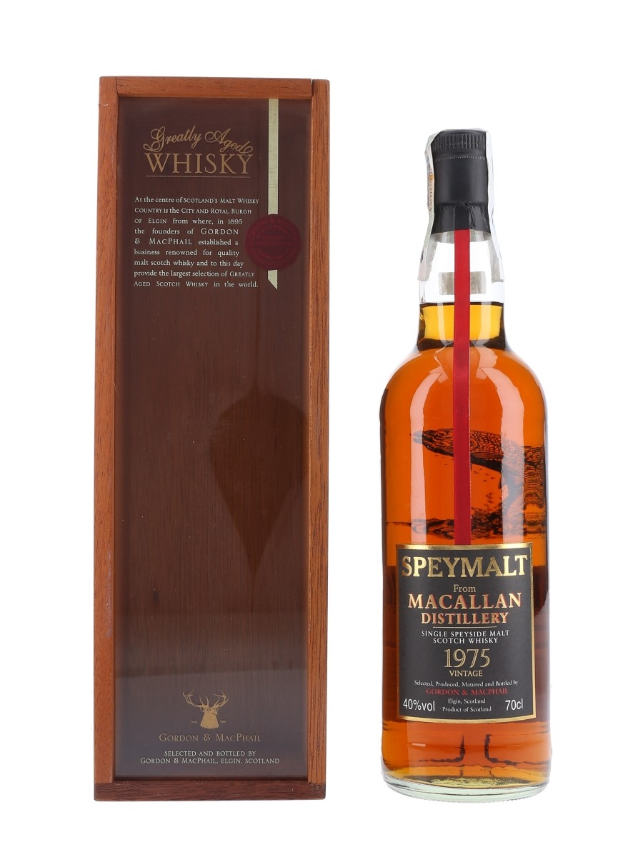Macallan 1975 Speymalt Bottled 2001 - Gordon & MacPhail 70cl / 40%