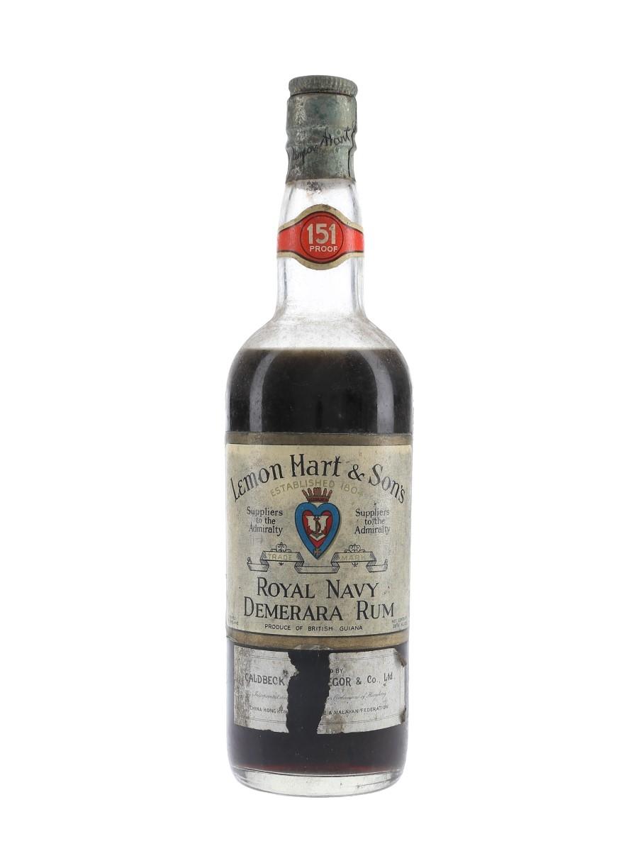 Lemon Hart 151 Proof Bottled 1940s - Caldbeck, Macgregor & Co. 75.7cl / 75.5%