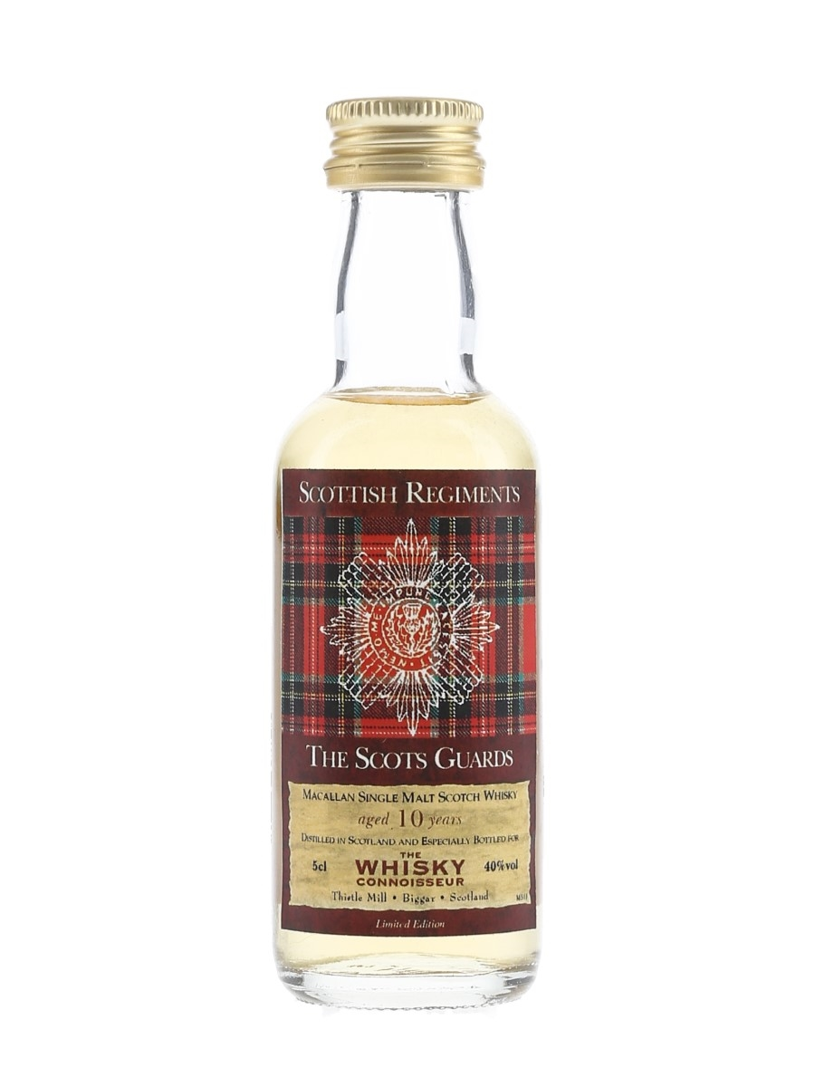 Macallan 10 Year Old Scottish Regiments Bottled 2002 - The Scots Guards 5cl / 40%