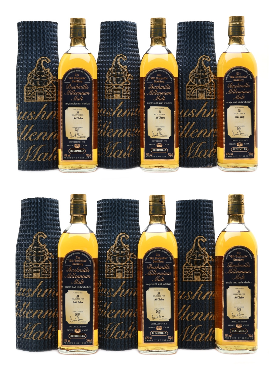 Bushmills 1975 Millennium Malt Private Cask Number 264 6 x 70cl / 43%