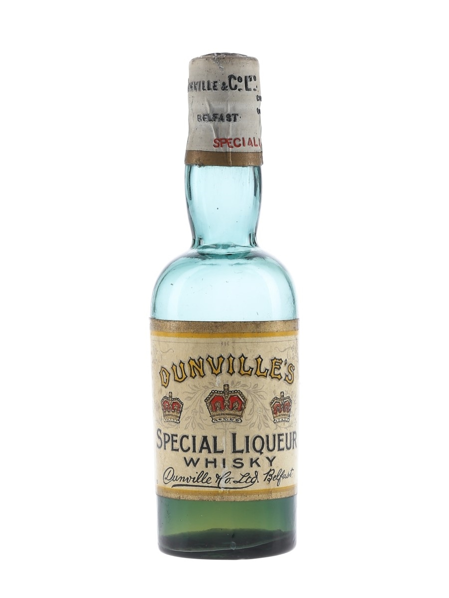 Dunville's Three Crowns Special Liqueur Whisky Bottled 1920s-1930s 5cl