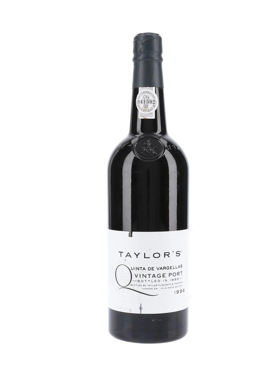 Taylor's 1986 Quinta De Vargellas Vintage Port Bottled 1988 75cl / 20.5%