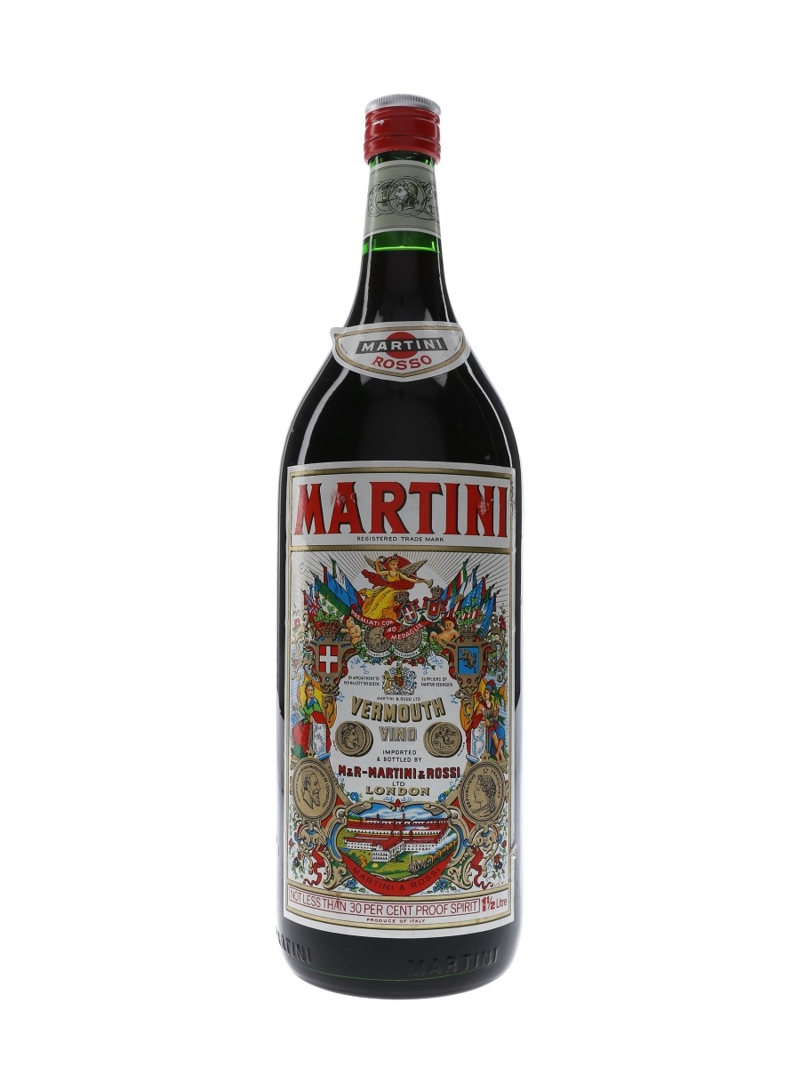 Martini Rosso Vermouth Bottled 1970s - Large Format 150cl / 17%