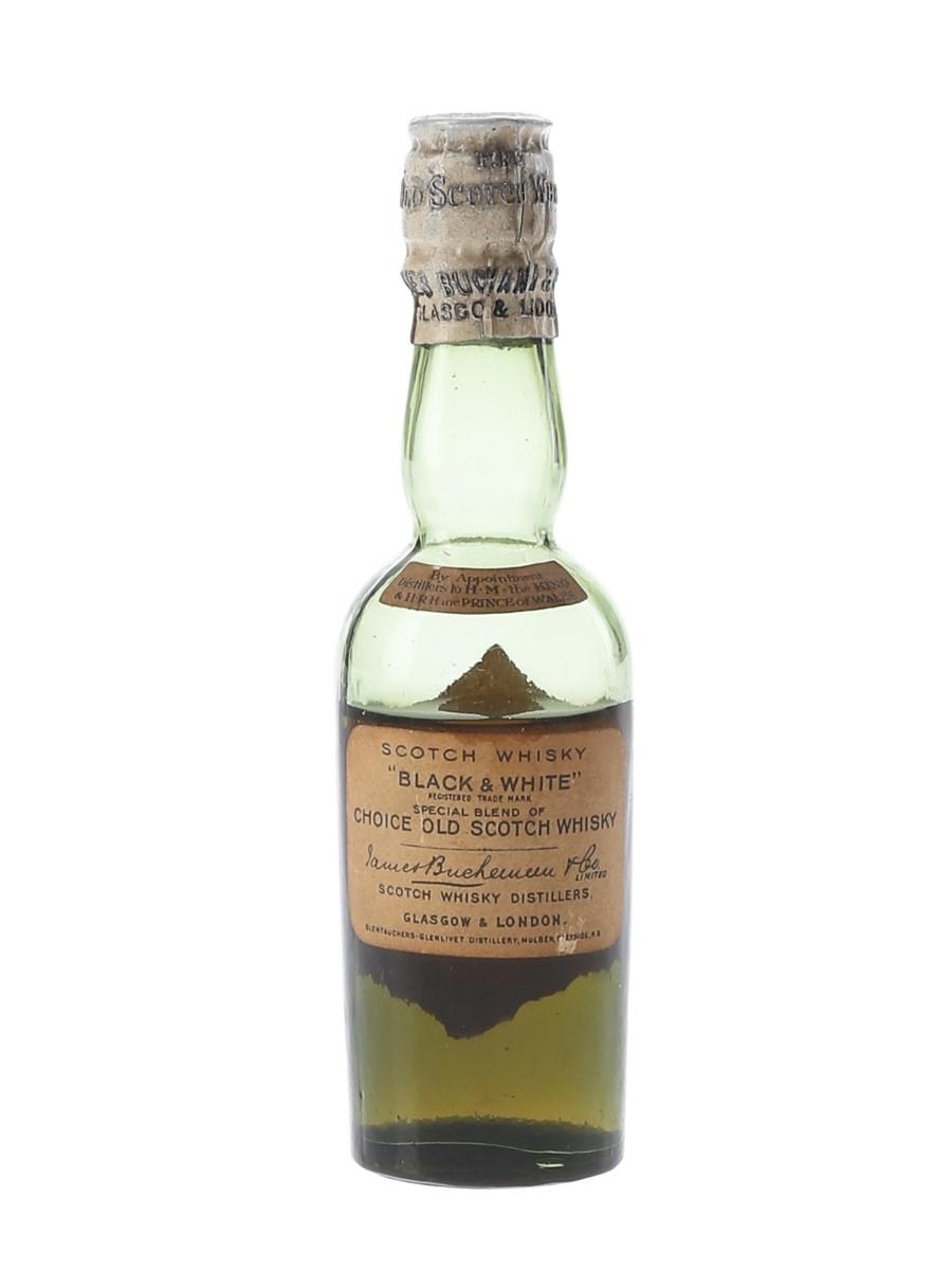 Black & White Bottled 1930s 5cl