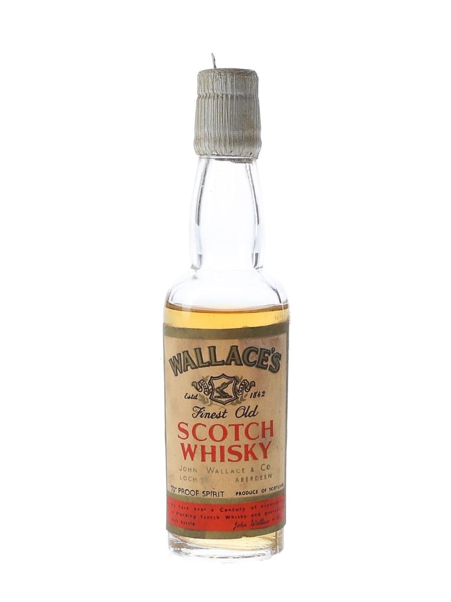 Wallace's Scotch Whisky Bottled 1950s-1960s 5cl / 40%