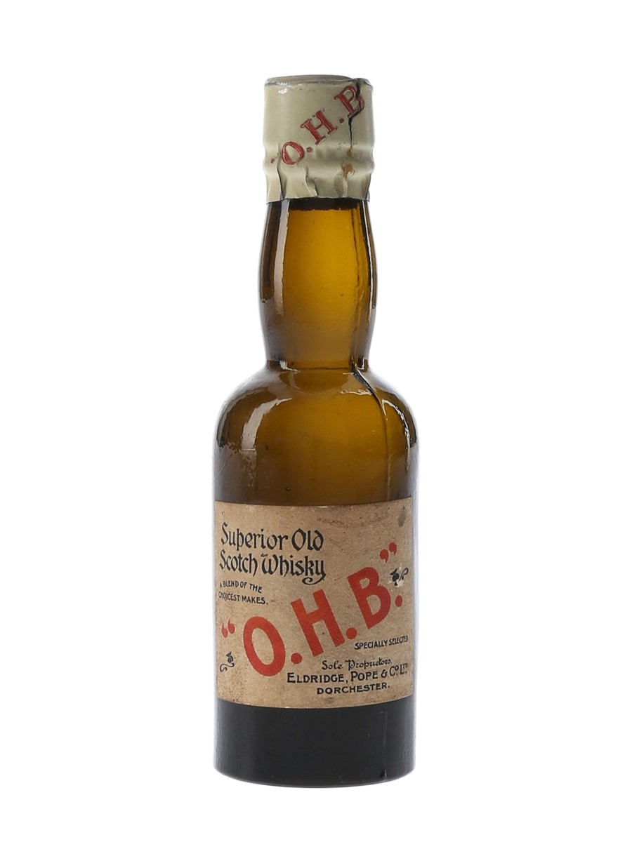 OHB Superior Old Bottled 1930s-1940s - Eldridge, Pope & Co. 5cl