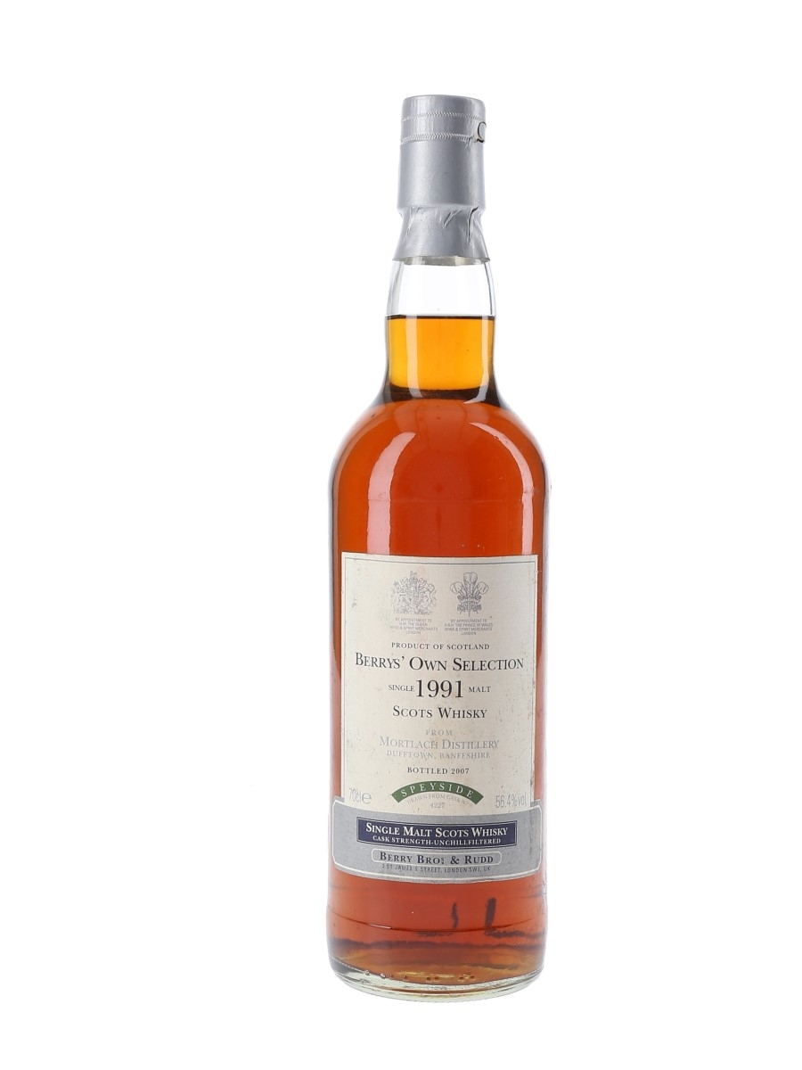 Mortlach 1991 Bottled 2007 - Berry Bros & Rudd 70cl / 56.4%