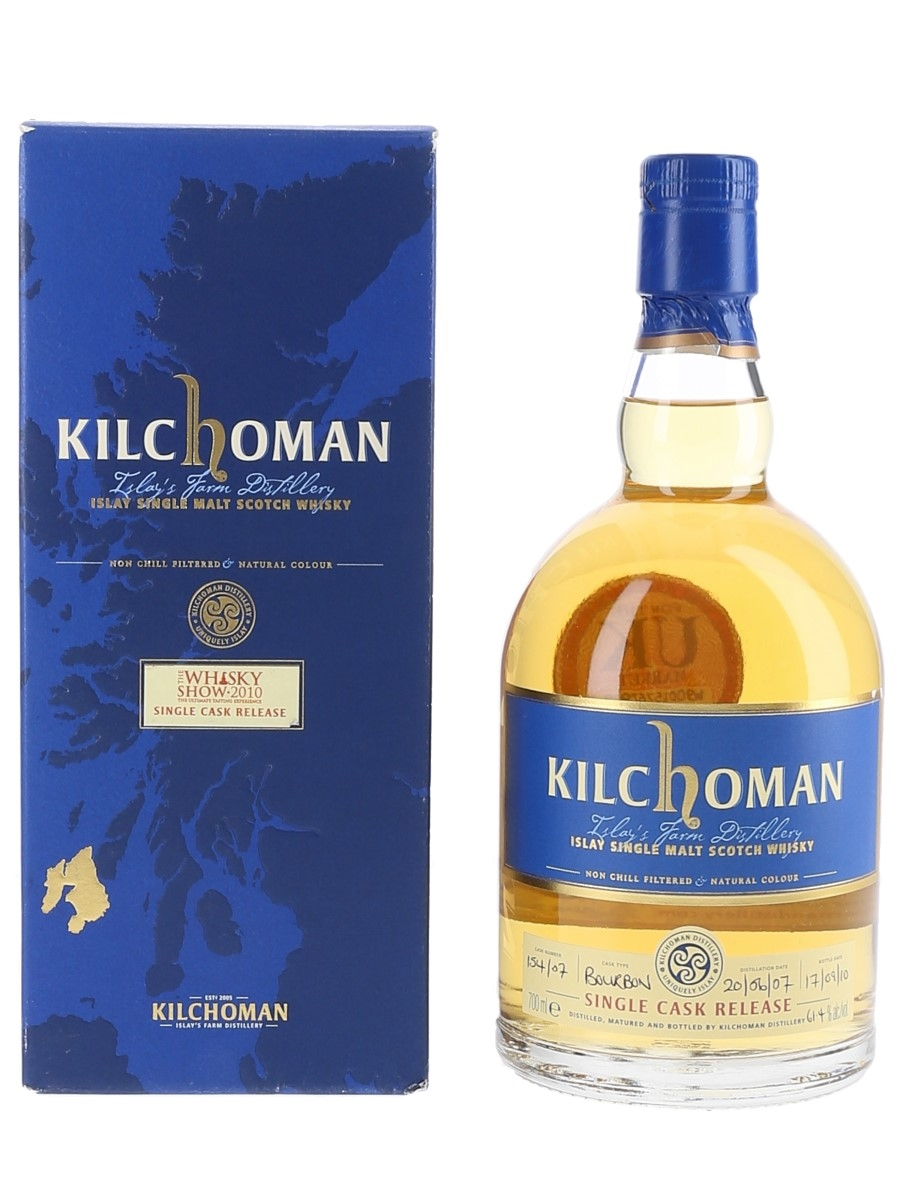 Kilchoman 2007 3 Year Old Bottled 2010 - The Whisky Exchange Whisky Show 10th Anniversary 70cl / 61.4%