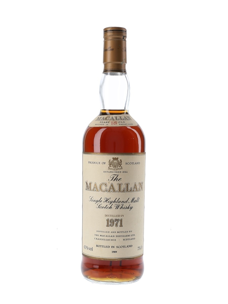 Macallan 1971 18 Year Old Bottled 1989 75cl / 43%