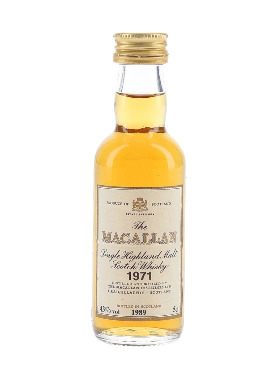 Macallan 1971 Bottled 1989 5cl / 43%